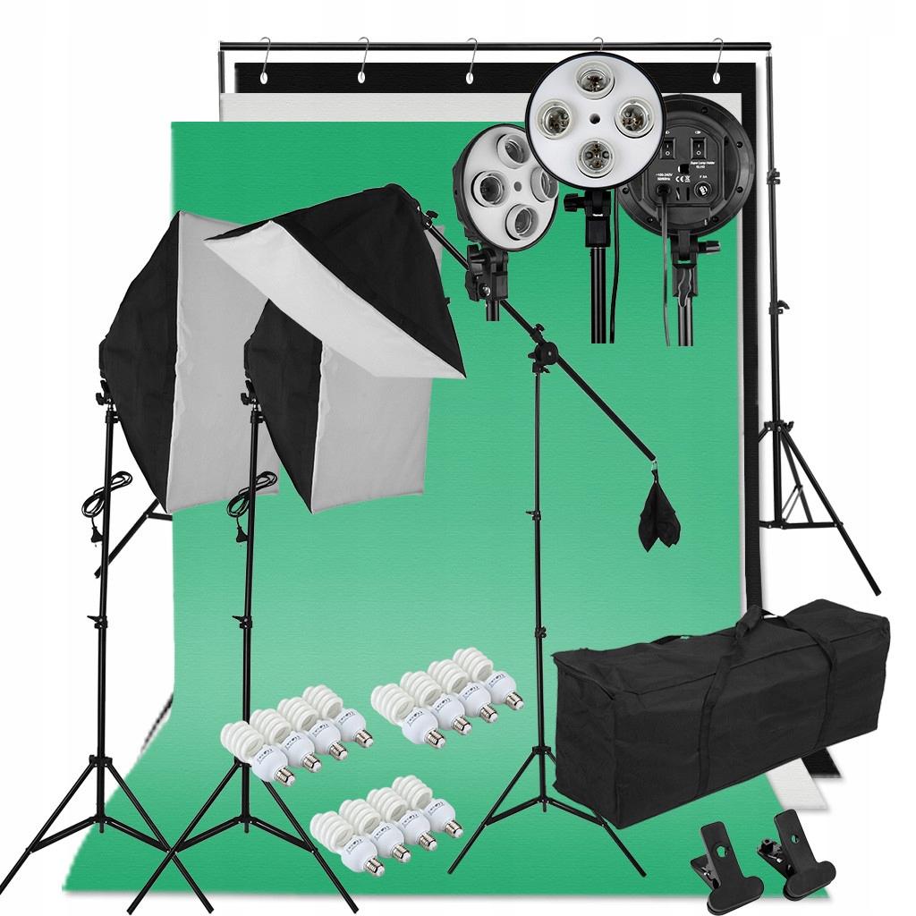 Zestaw Oświetleniowy Foto Studio Softbox 12x45W
