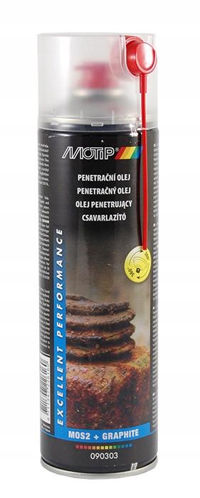 Odrdzewiacz penetrujący spray 500ml MOTIP 090303