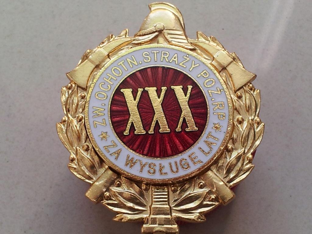 Odznaka Za Wysługę XXX Lat w OSP - od 1997 r.