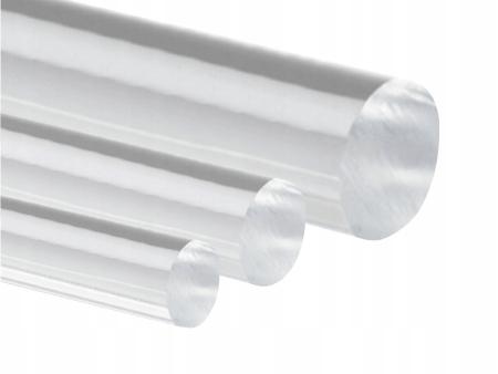 Pręt z pleksi, plexi, PMMA, wałek śr. 2 mm, 50 cm