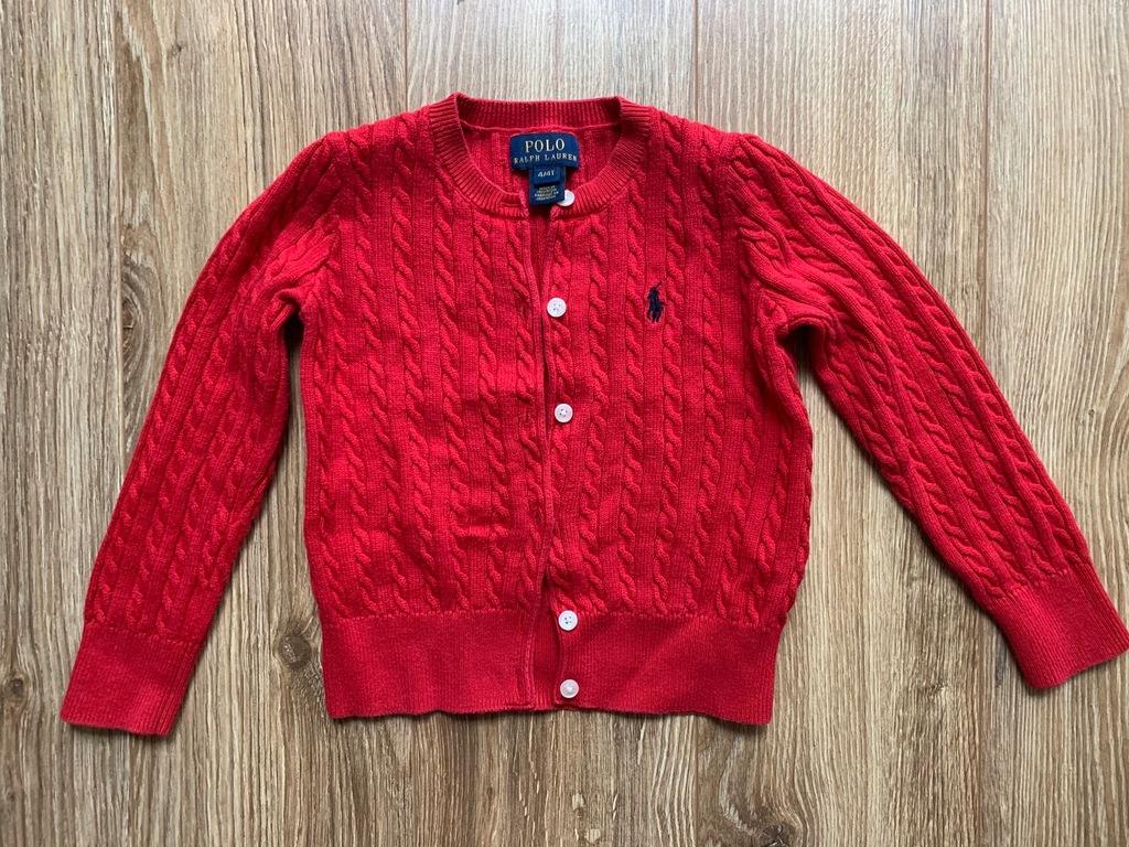 Sweterek warkocze RALPH Lauren 4T dziewczynki