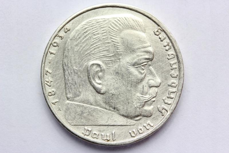 2 REICHSMARK RZESZA 1939-A- BERLIN SWASTYKA SREBRO