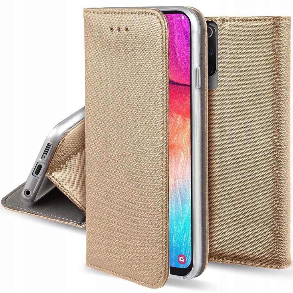 Etui OPPO A15 portfel z klapką Flip Magnet złote