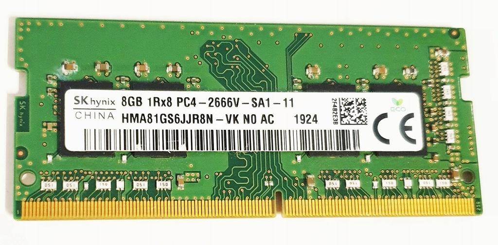 8GB 2666 HYNIX PC4-2666V HMA81GS6JJR8N-VK N0 AC