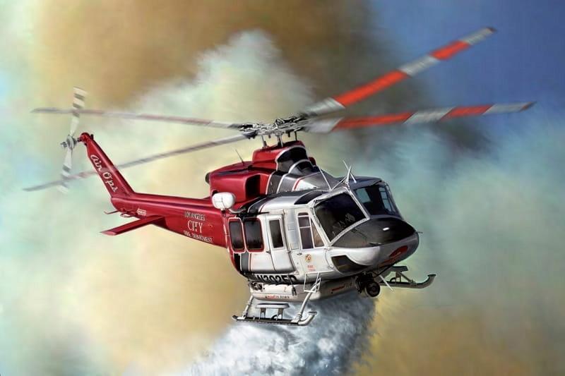 Bell 412 Los Angeles z farbami Italeri 70391