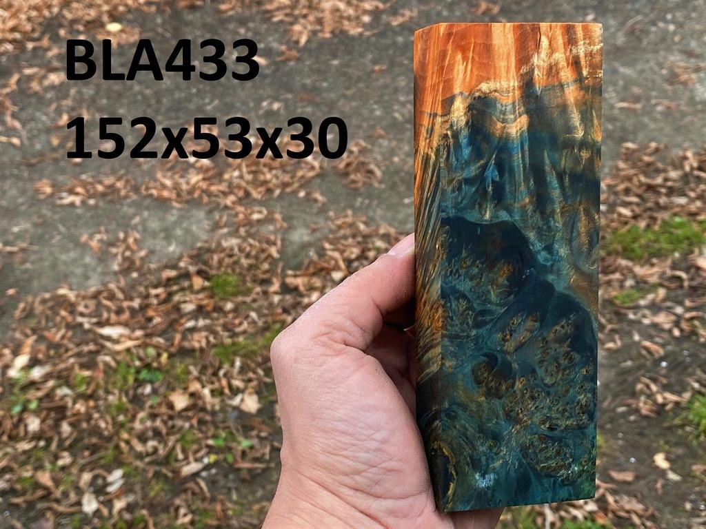 Drewno stabilizowane bloczek knifemaking BLA433