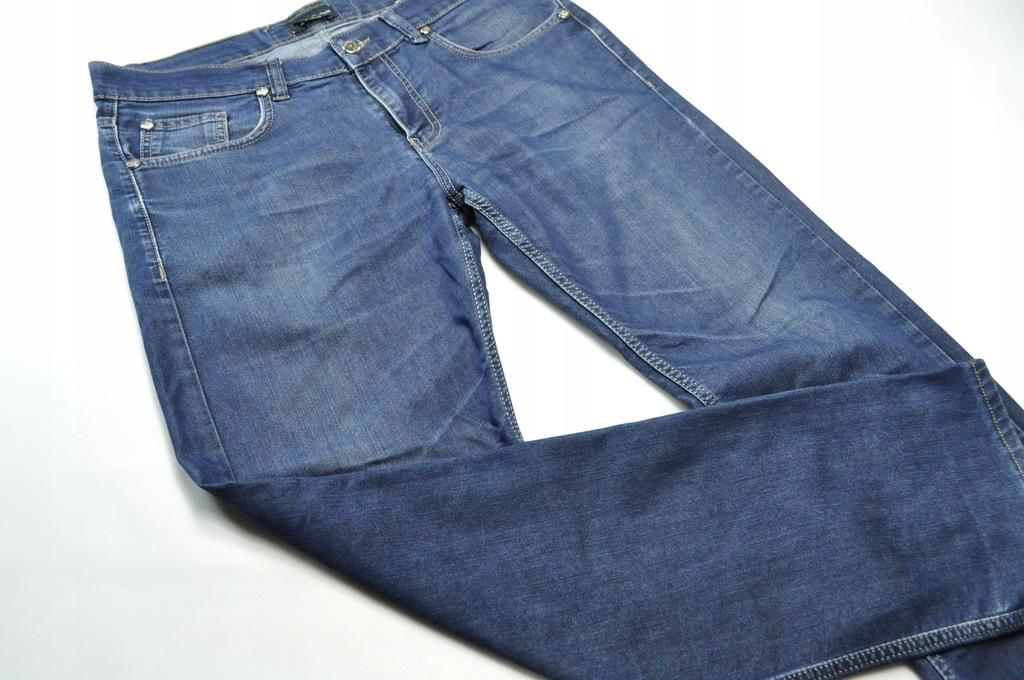 ATT jeansy Emporio Armani granatowe rozmiar 34
