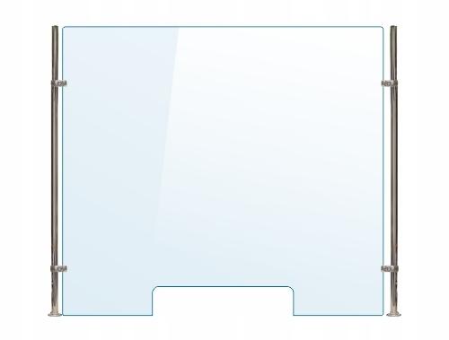 OSŁONA z pleksi ochronna B szyba 4 mm plexi 120x70