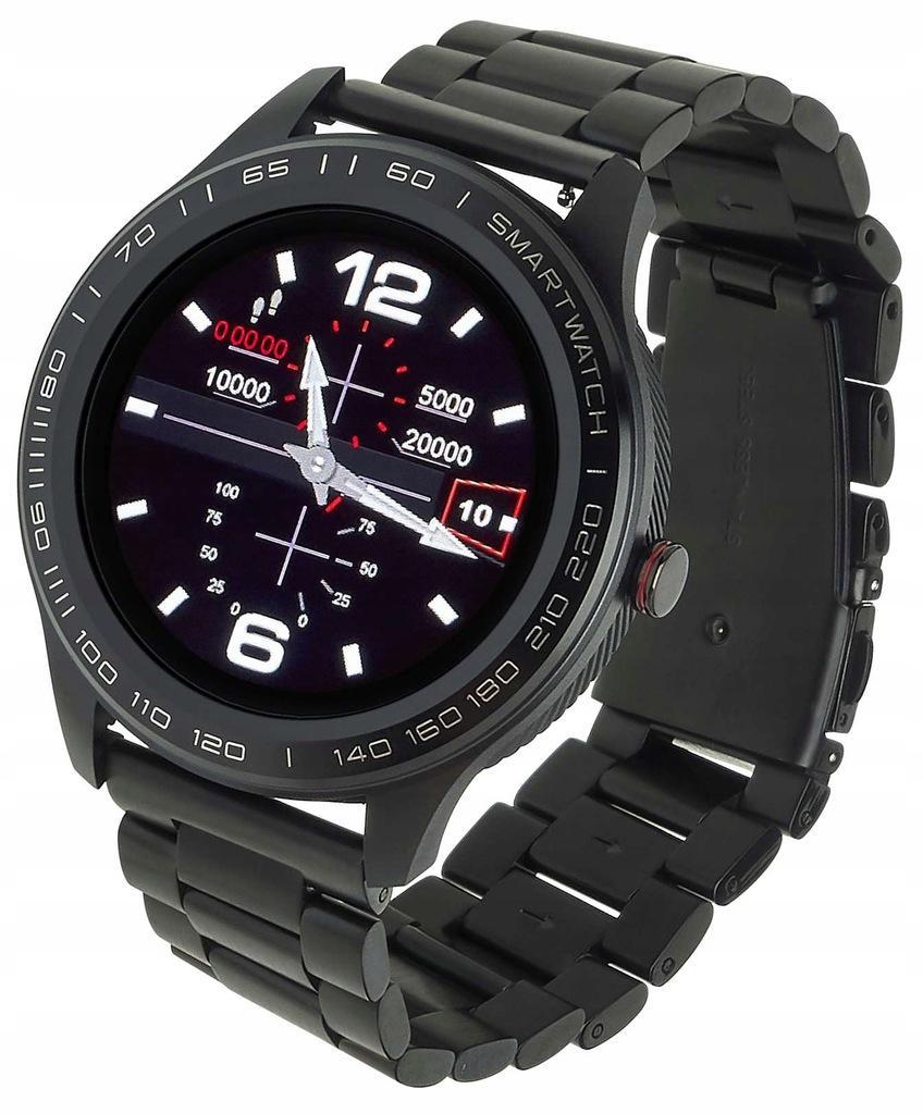Smartwatch Garett Men 3S RT czarny metalowy