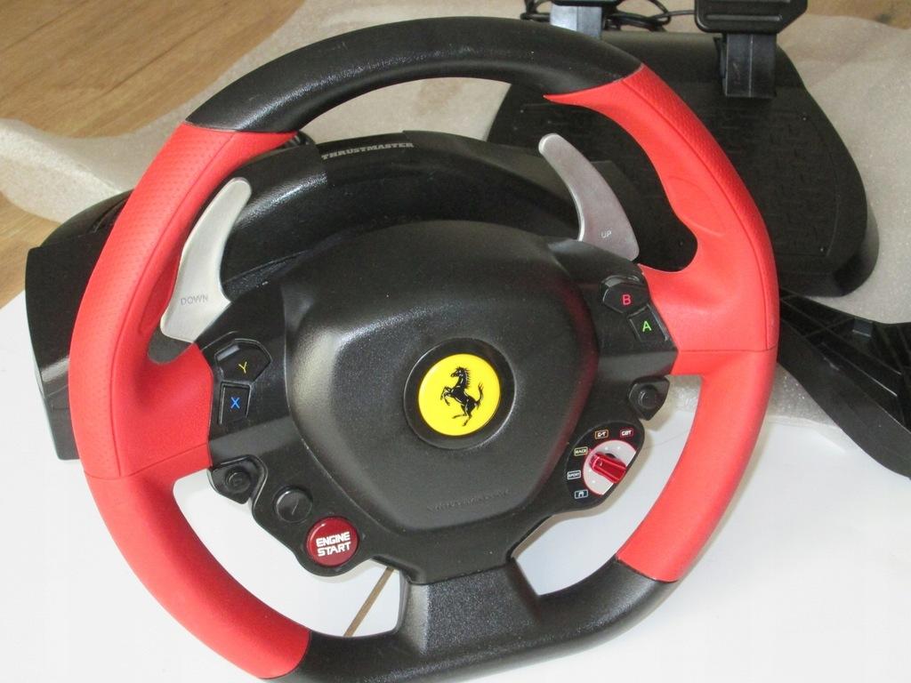 Kierownica i pedały Ferrari 458 do xbox one OPIS