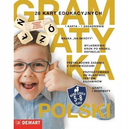 Język polski gramatyka 28 kart edukacyjnych