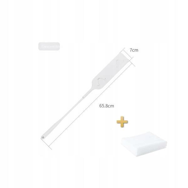 [Biały] Odpinana ścierka do kurzu, szczotka do