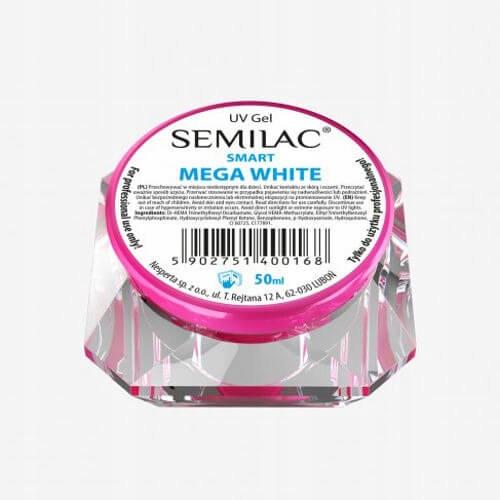 Semilac UV Żel Smart Mega White 50ml