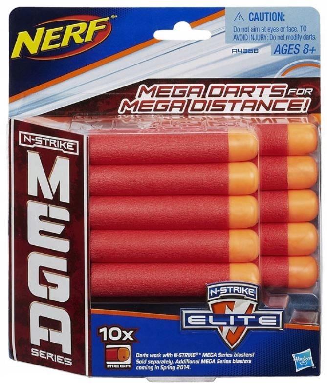 HASBRO NEFR N-Strike Zestaw strzałek MEGA 10 szt !