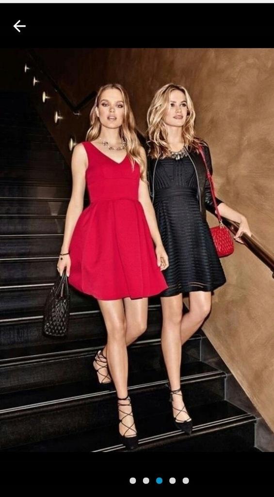 czerwona sukienka Orsay S wesel