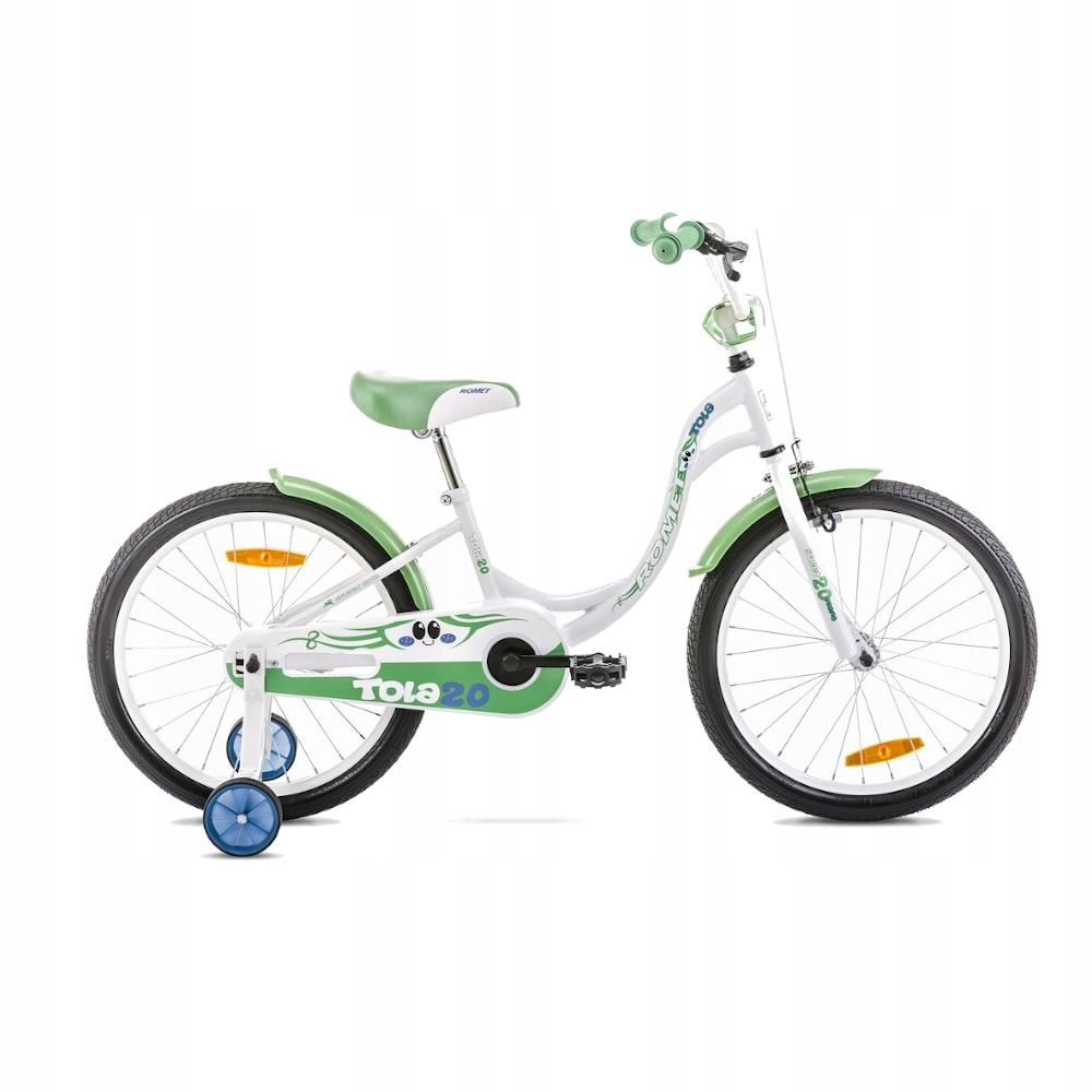 """Romet Tola Rower junior biało-zielony 20"""" S"""