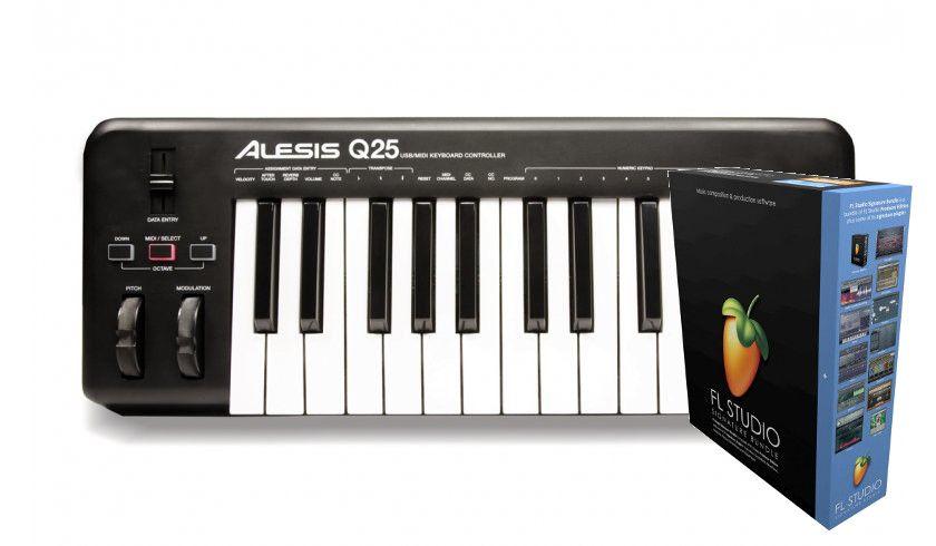 Alesis Q25 + FL Studio 20 Signature Bundle BOX