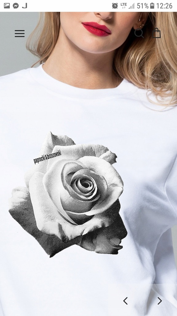 bluza czarna roza paprocki brzozowski