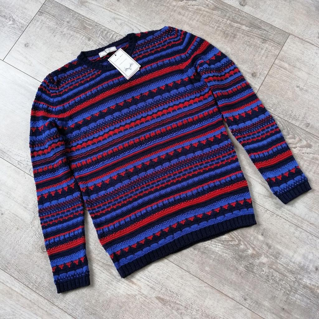 Zara Man_męski sweter_denim couture_rozmiar XL