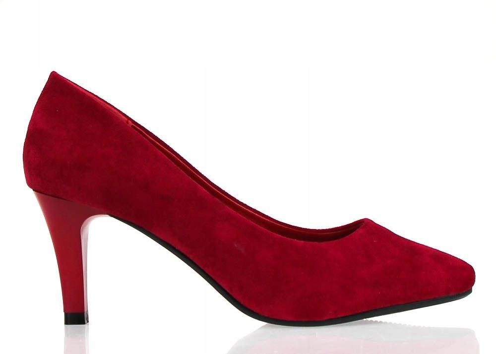 czerwone szpilki sandały na obcasie litery sl