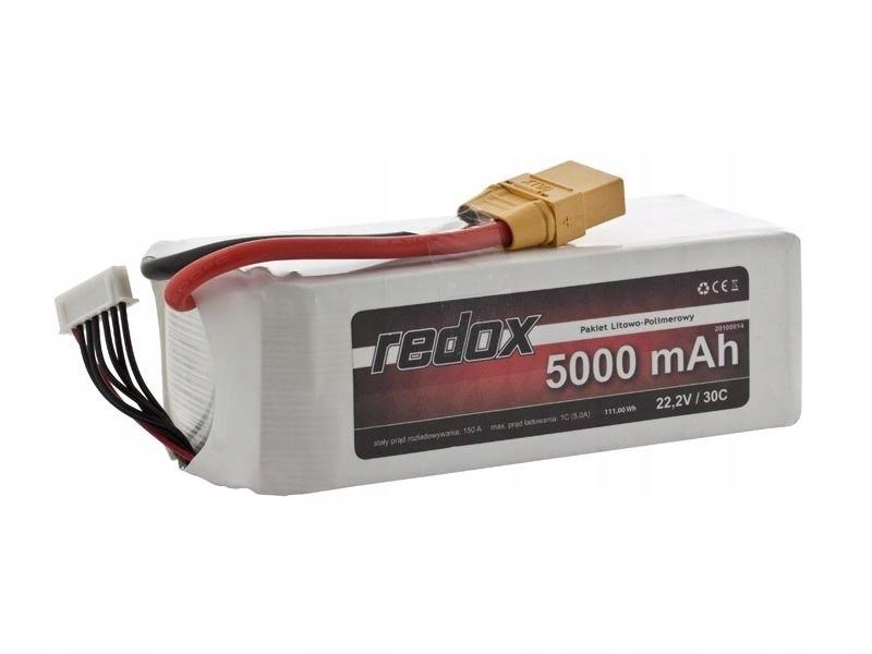 Pakiet Redox 5000 mAh 22,2V 30C LiPo