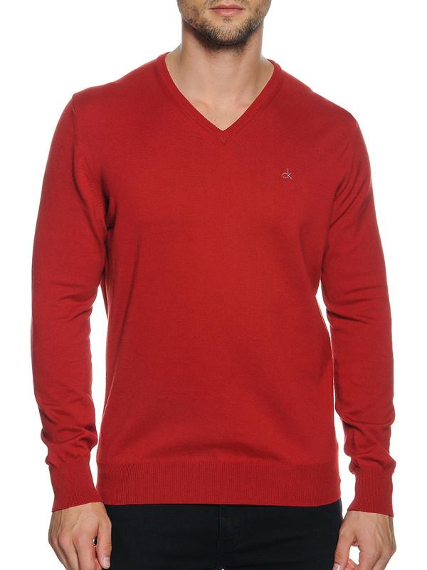 Calvin Klein Golf Pullover czerwony M