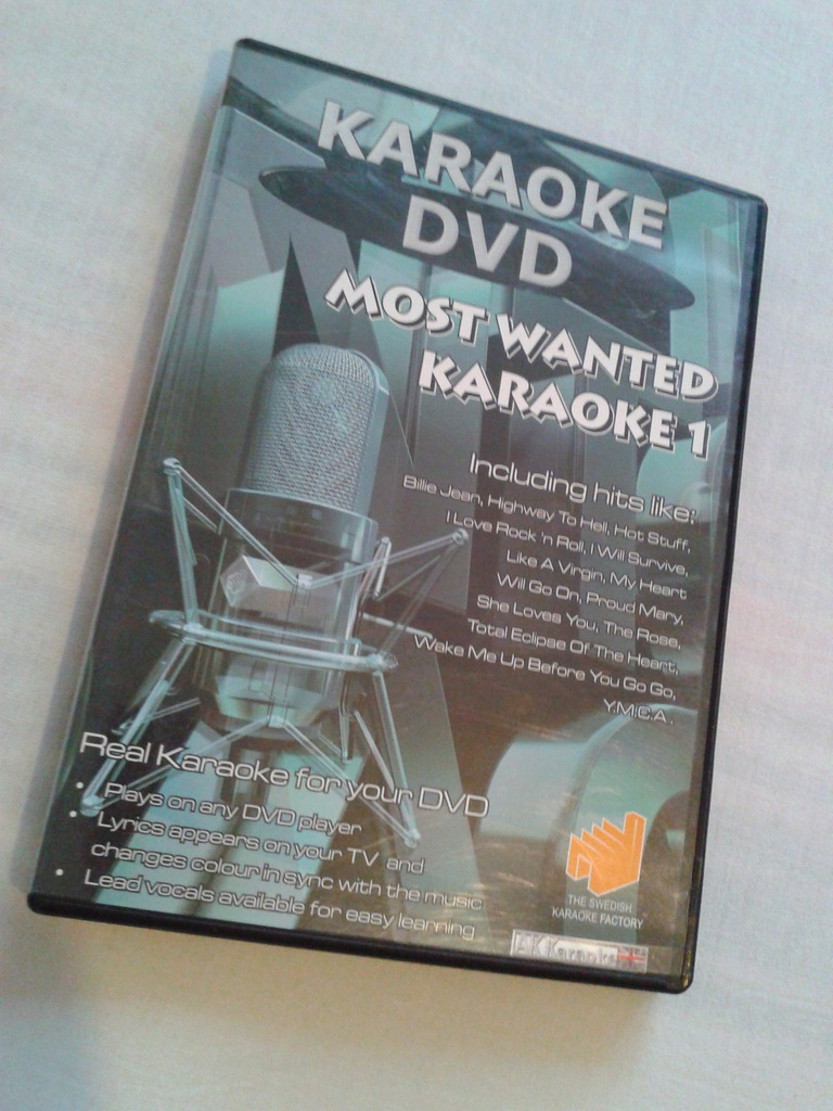 KARAOKE DVD - MOST WANTED KARAOKE 1 (AC/DC, WHAM)