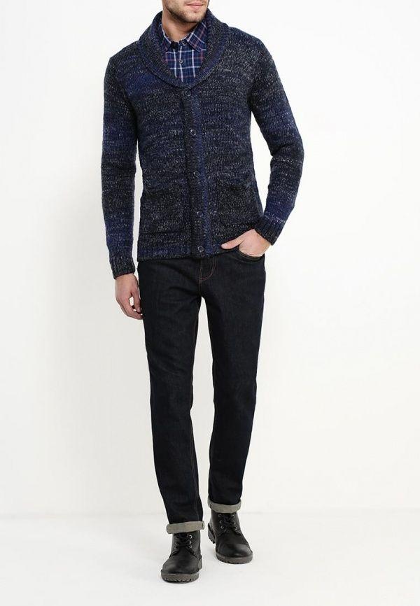 PEPE JEANS Niebieski melanżowy sweter (M)