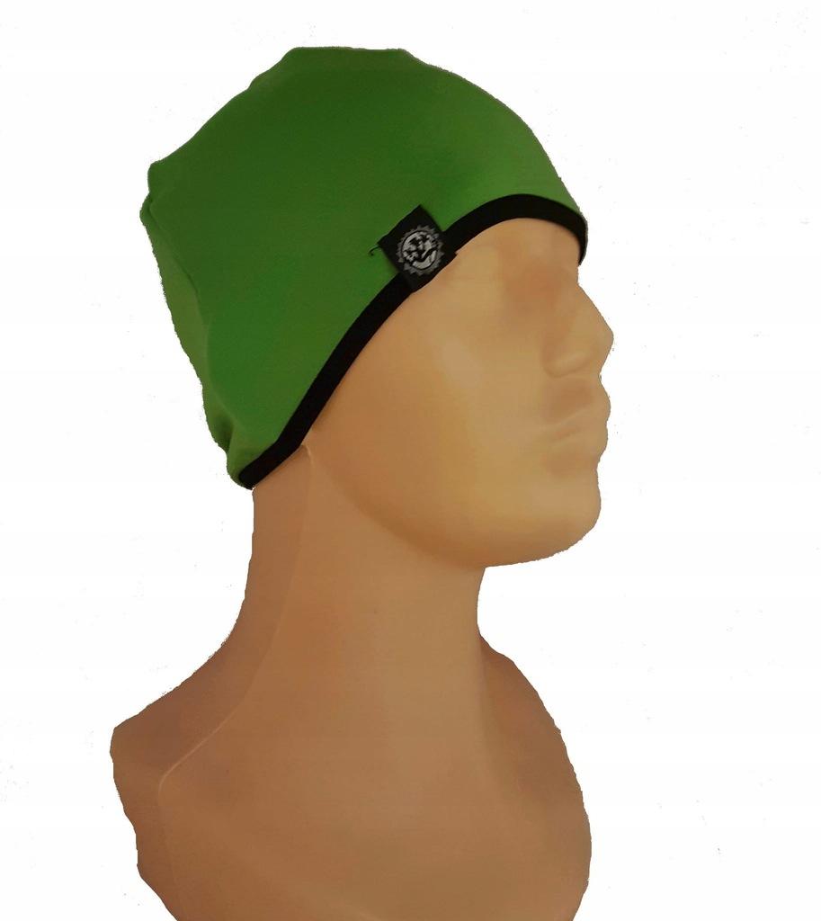 Czapka Stretch Montano z lamówką (kolor: zielony)