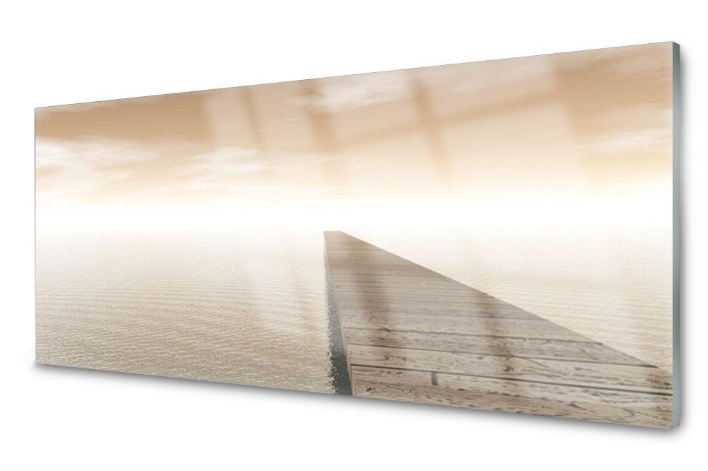 Lacobel Panel Szklany Ścienny Morze Molo 120x60