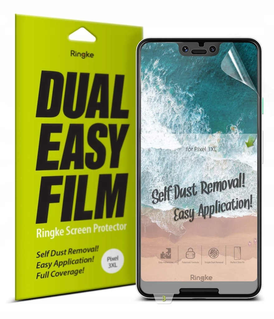 Folia Ringke Dual Easy Full Cover Google Pixel 3 X