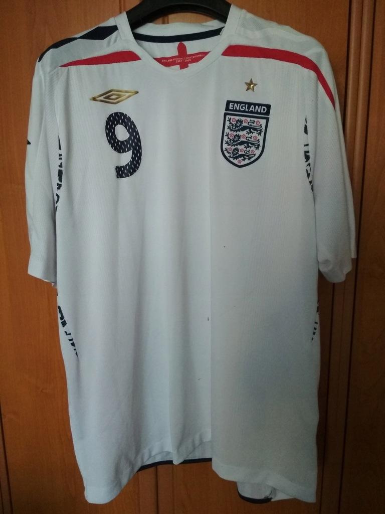 Koszulka Anglia - Umbro 07/09 - XL - Home - Rooney