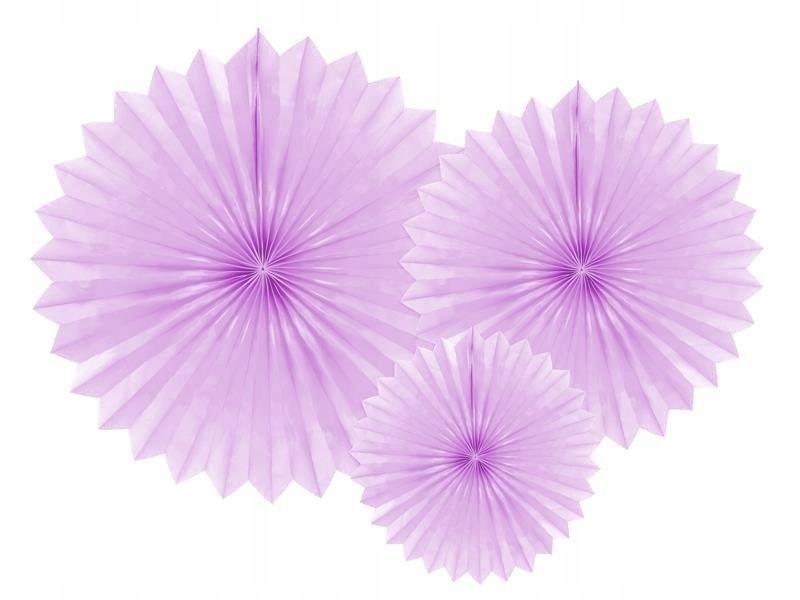 Rozety dekoracyjne lawenda 20-40cm, 150 szt.