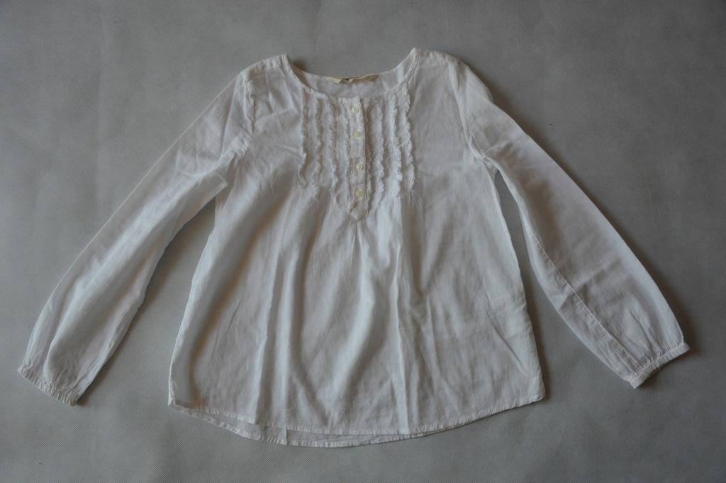 Bluzka biała H&M 8-9 l. 134 cm. jak nowa
