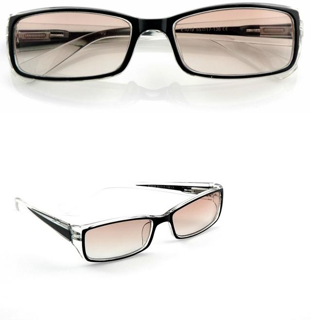 okulary korekcja plusy +1,5 szklane soczewki duże