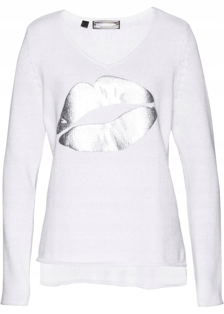 BONPRIX Sweter z cekinami r. 48/50 BPC