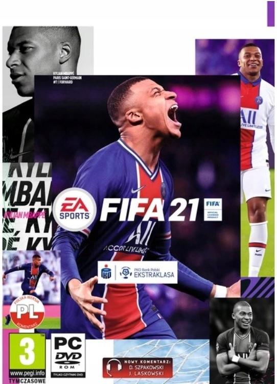FIFA 21 PC DVD - nowa wersja pudełkowa PL PC FV23%