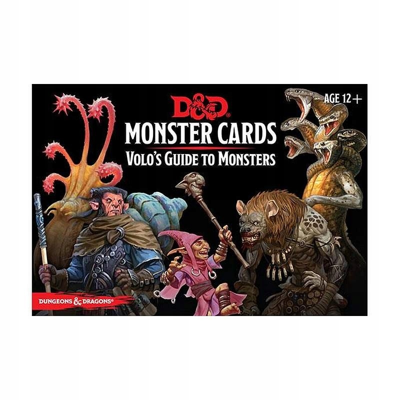 DnD RPG Volo's Guide to Monsters Monster Cards ENG