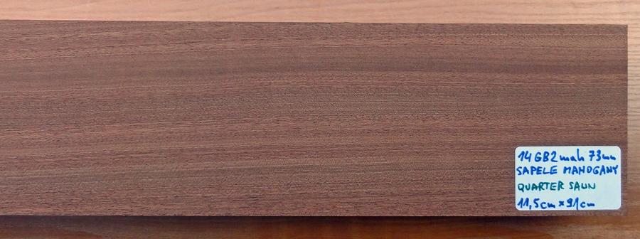 Drewno MAHOŃ na gryf gitary basowej, grubość 73mm