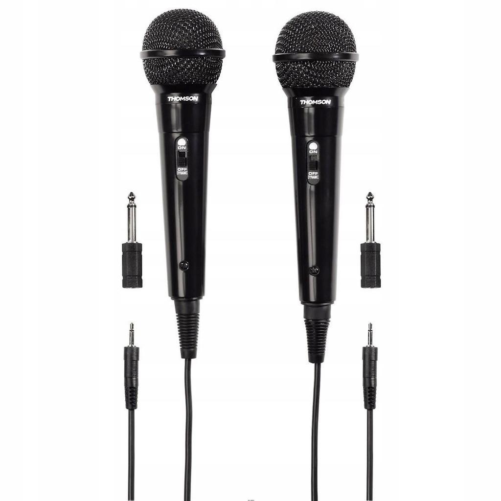 M135 - Mikrofon dynamiczny karaoke 3m, zestaw 2 sz