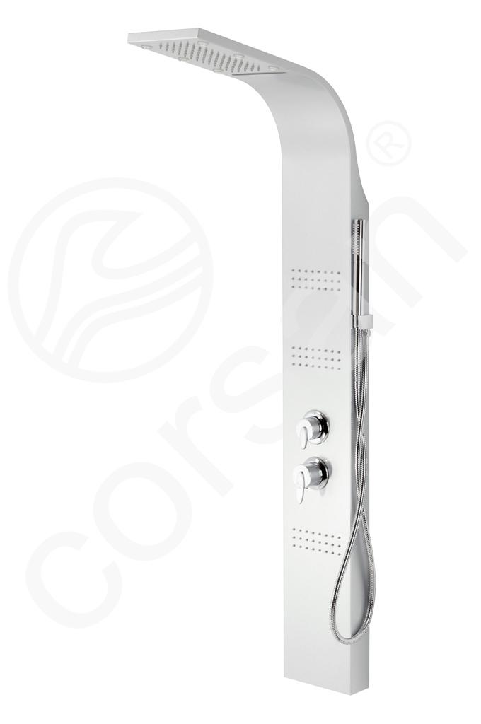 Panel Prysznicowy Royal Biały z Oświetleniem LED