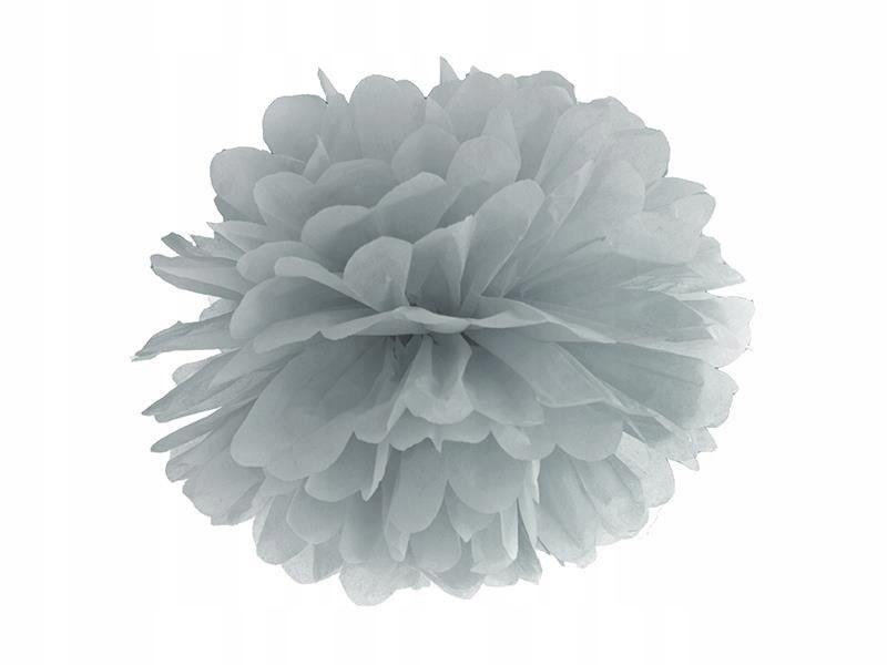 Pompon bibułowy kolor szary 35cm 100 szt