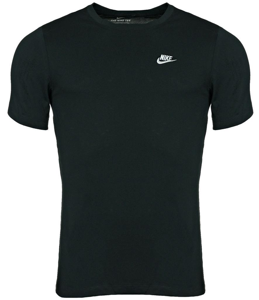 Koszulka NIKE Męska BAWEŁNIANA T-SHIRT Czarna XL