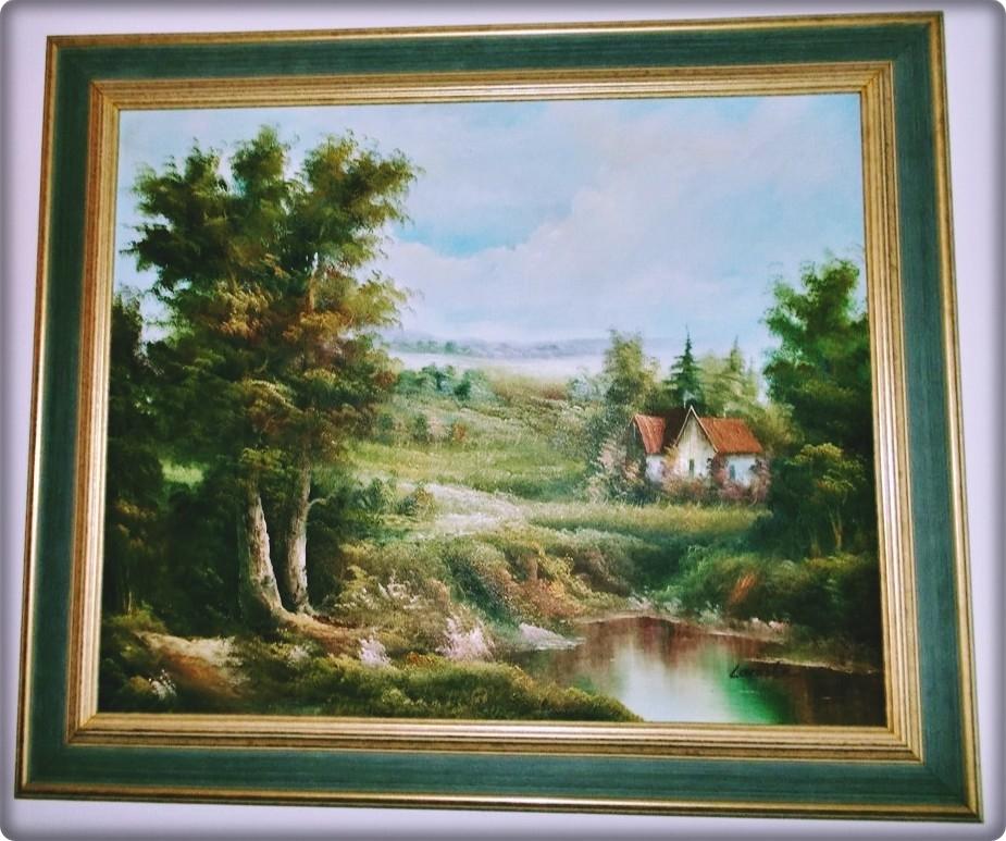 Obraz olejny na płótnie 76x64 cm Lacoste