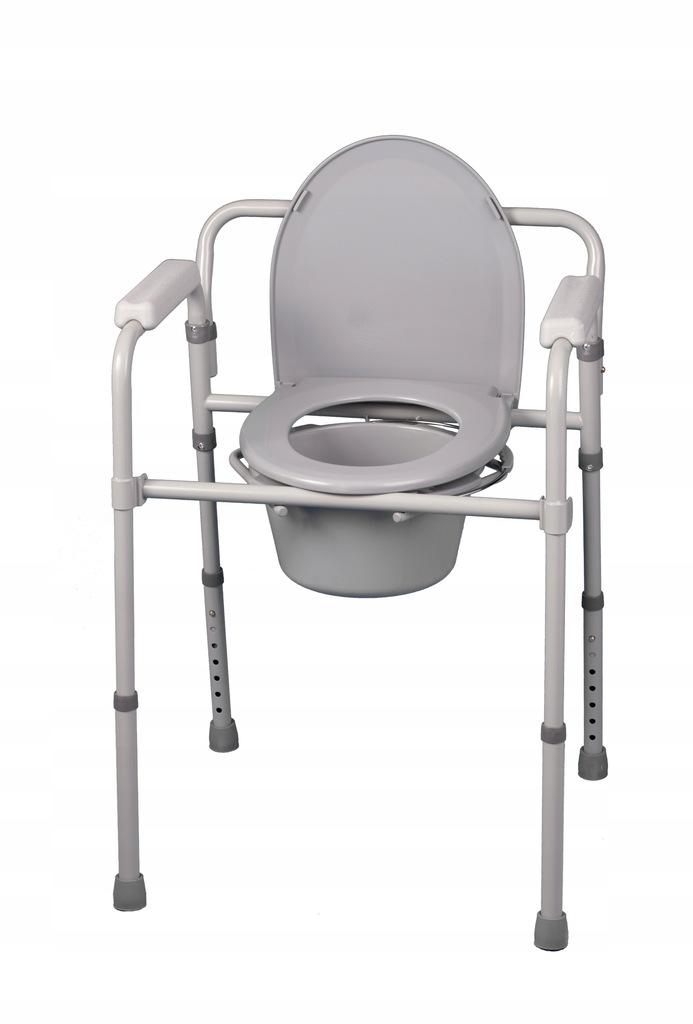 Przenośne krzesło toaletowe składane sedes wc
