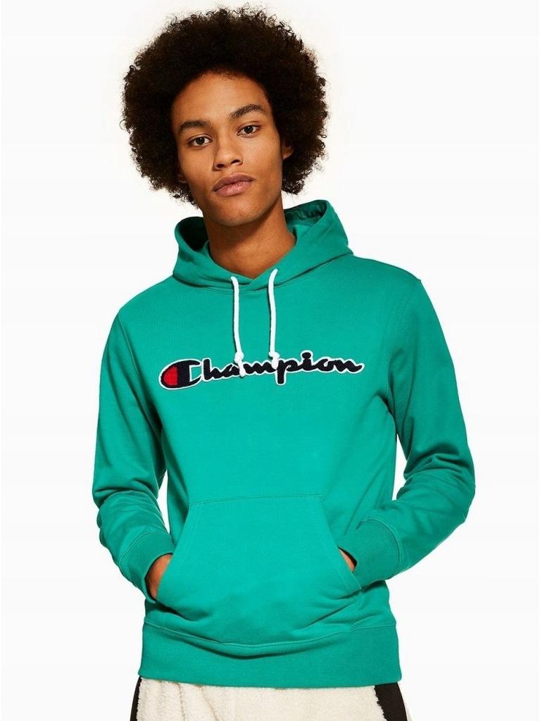 Modna Bluza Champion Mesh Logo Script Green L