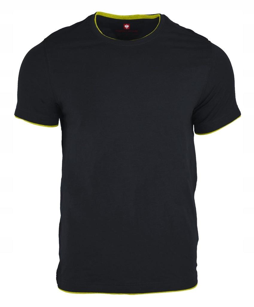 Koszulka Engelbert Strauss szafirowy/żółty XL