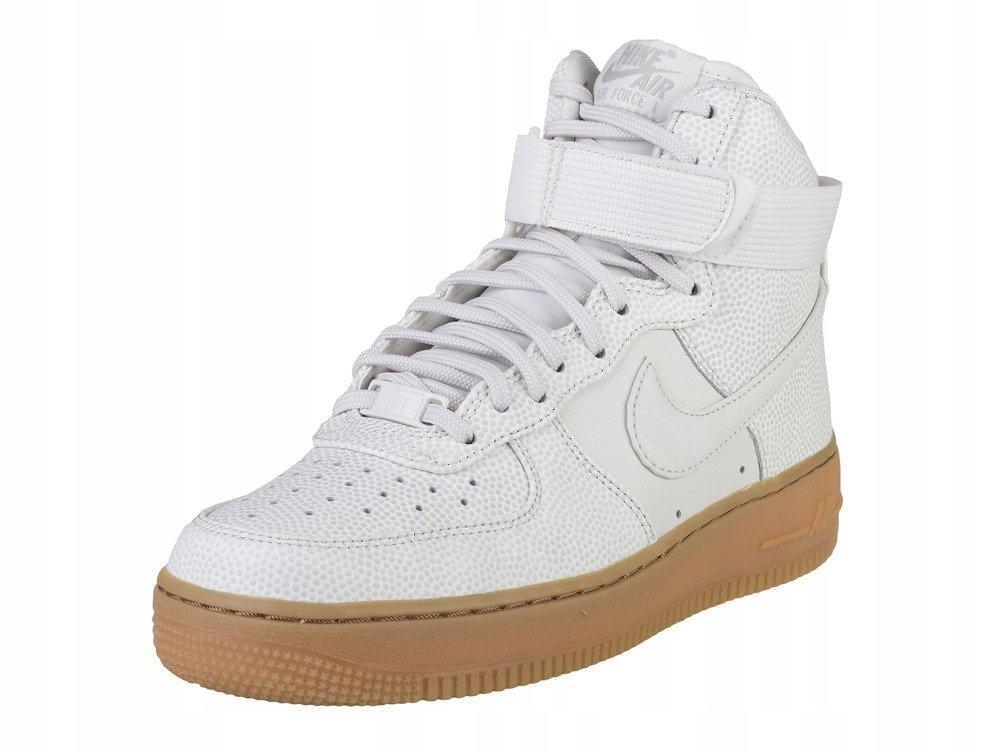 Nike Air Force 1 wysokie białe buty damskie SKÓRA
