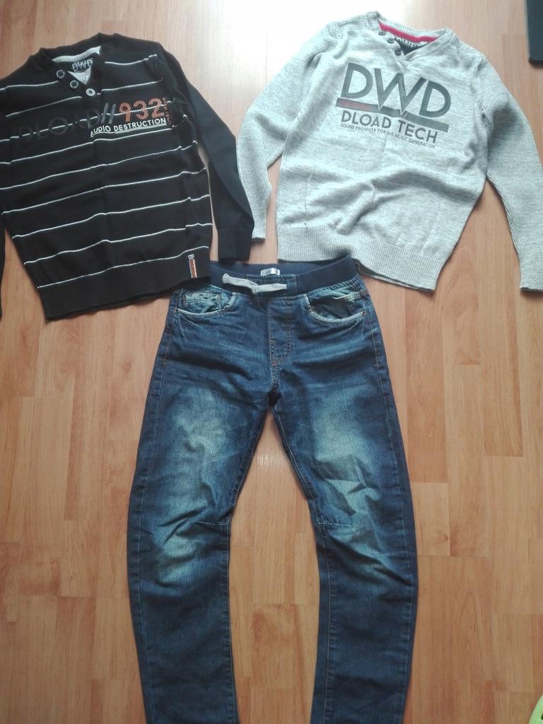 Zestaw modnych ubrań dla chłopca C&A 140