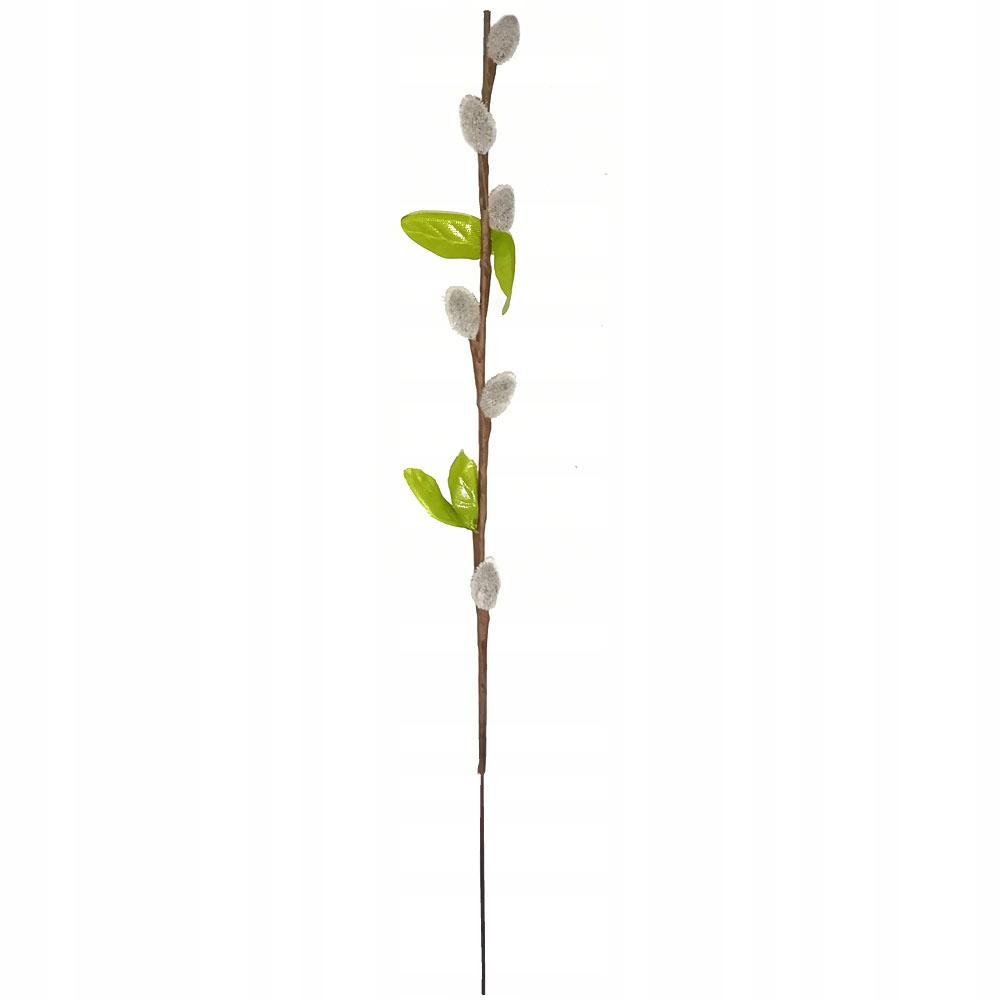 Bazie 30cm JAK ŻYWE szare z liściem